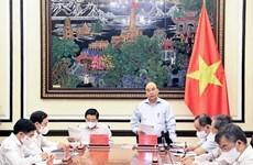 Presidente de Vietnam preside sesión de trabajo sobre construcción del estado de derecho