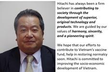 Grupo japonés Hitachi comprometido a acompañar a Vietnam en lucha contra COVID-19
