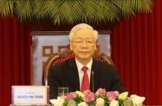 Máximo dirigente de Vietnam participa en Cumbre de PCCh y Partidos Políticos del Mundo