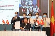 Empresas vietnamita y singapurense firman cooperación estratégica