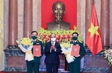 Elevan rango de dirigentes del Ministerio de Defensa de Vietnam
