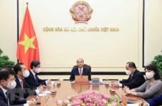 Presidente de Vietnam sostiene conversación telefónica con su homólogo rumano