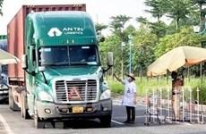 Flexibilizan requisitos sanitarios para conductores de mercancías en el sur de Vietnam