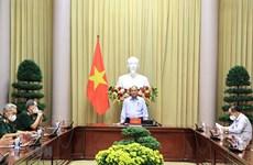 Presidente de Vietnam destaca actividades de apoyo a inválidos de guerra y familias de mártires