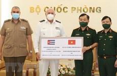 Ministerio de Defensa de Vietnam asiste a Cuba en lucha antipandémica
