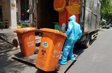Localidades vietnamitas por manejar residuos generados por el COVID-19