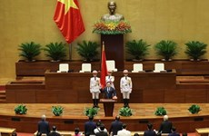 Laos felicita a presidente de Asamblea Nacional de Vietnam de XV legislatura