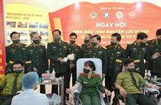 Ministerio de Defensa de Vietnam convoca movimiento de donación de sangre