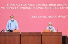 Presidente vietnamita visita provincia sureña golpeada por COVID-19