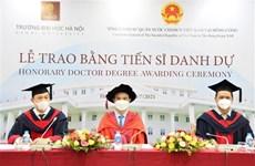 Empresario hongkonés recibe título de Doctor Honoris Causa de Universidad de Hanoi
