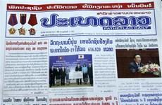 Prensa de Laos aprecia significado de visita oficial del presidente de Vietnam