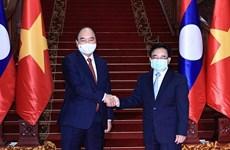 Visita oficial del presidente vietnamita a Laos refleja gran amistad y solidaridad bilateral