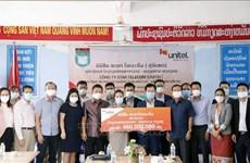 Empresa vietnamita Unitel ayuda a mejorar la calidad de escuela bilingüe en Laos
