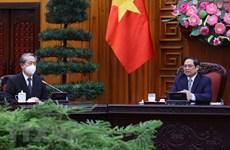 Primer ministro de Vietnam recibe al embajador de China