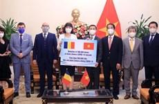Recibe Vietnam vacunas contra el COVID-19 donadas por Rumania
