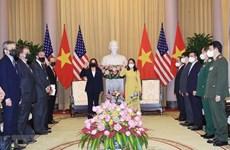 Vicepresidenta de Vietnam recibe a su homóloga estadounidense Kamala Harris