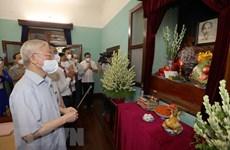 Máximo dirigente de Vietnam rinde tributo al Presidente Ho Chi Minh en ocasión el Día Nacional