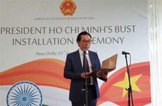 Instalan busto del Presidente Ho Chi Minh en Nueva Delhi