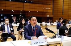 Máximo dirigente legislativo vietnamita asiste al acto inaugural de Conferencia Mundial de Presidentes de Parlamento