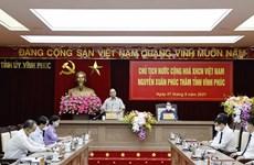 Presidente de Vietnam realiza visita de trabajo a provincia norteña de Vinh Phuc
