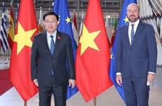 Líder parlamentario de Vietnam se reúne con presidente del Consejo Europeo