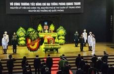 Despiden con funeral de Estado al general vietnamita Phung Quang Thanh
