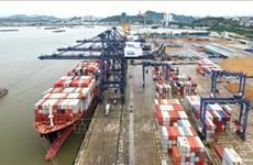 Atraca gran portacontenedores en puerto vietnamita