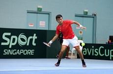 Equipo de tenis de Vietnam comienza con buen pie en la Copa Davis 2021