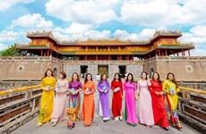 Exposición virtual honra belleza de traje típico de mujeres vietnamitas