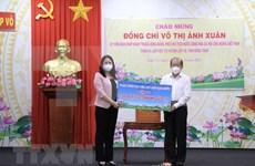 COVID-19: Vicepresidenta de Vietnam entrega ayudas a la provincia de Dong Thap