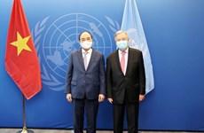 Presidente de Vietnam se reúne con dirigentes de la ONU