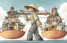 UNESCO divulga premios de concurso de pintura sobre Hanoi