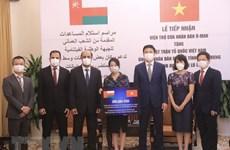 Reciben donación de Omán para pobladores vietnamitas afectados por inundaciones