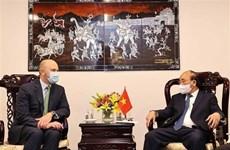 Presidente de Vietnam recibe a ejecutivos de empresas de energía de Estados Unidos