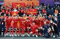 FIFA y AFC alaban esfuerzos de selección vietnamita de futbol sala