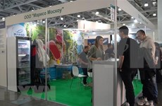 Presentan productos vietnamitas en exposición de alimentos en Rusia