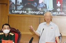 Máximo dirigente del PCV se reúne con votantes en Hanoi