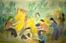 Exhiben obras de pintores de mayor edad en Vietnam