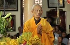 Fallece Patriarca Supremo de Sangha Budista de Vietnam