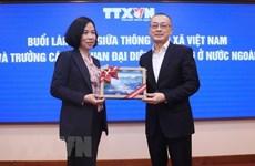 Buscan mejorar cooperación entre VNA y misiones representativas de Vietnam en extranjero
