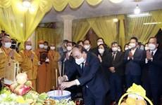 Presidente vietnamita rinde tributo a Patriarca Supremo de Sangha Budista