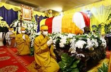Efectúan honras fúnebres a Patriarca Supremo de Sangha Budista de Vietnam