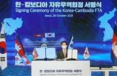 Corea del Sur rubrica acuerdos de libre comercio con Camboya y Filipinas