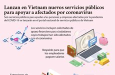 [Infografía] Lanzan en Vietnam nuevos servicios públicos para apoyar a afectados por coronavirus