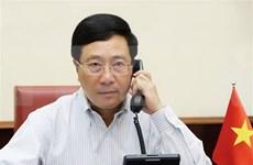 Vicepremier vietnamita mantiene conversación telefónica con secretario de Estado Mike Pompeo