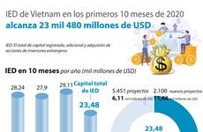 IED de Vietnam en los primeros 10 meses de 2020