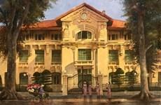 Recuerdan el sol de Hanoi a través de cuadros
