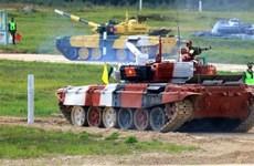 Equipo de tanques del Ejército Popular de Vietnam compite en Army Games 2021
