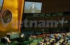 Presidente vietnamita en tribuna de la ONU