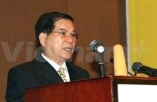 Presidente en asamblea regional de derecho